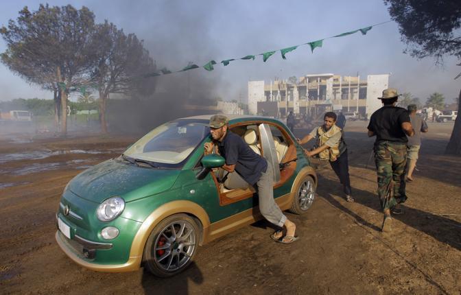 Gaddafi's Fiat 500 Castagna EV 1